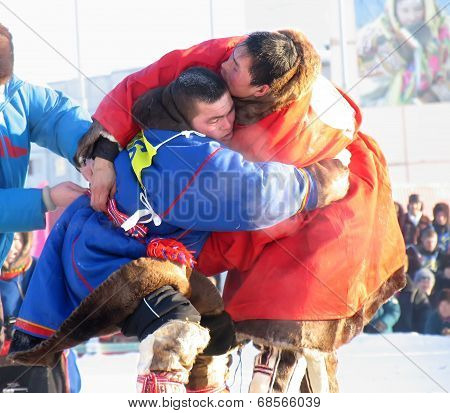 Nadym, Russia - March 2, 2007: National Holiday - Day Of The Reindeer Herders.