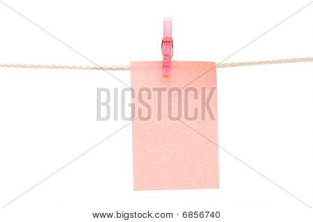 Note Hanging On A Rope