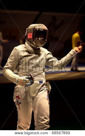 Sabre Fencer Mariel Zagunis Of Usa