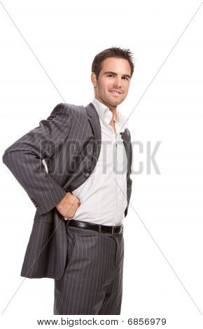Confident Business Man Isolated Over White Background