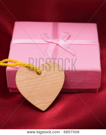 Wooden Heart And Gift