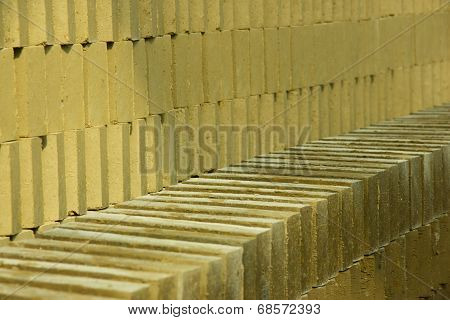 Bricks Drying At The Sun
