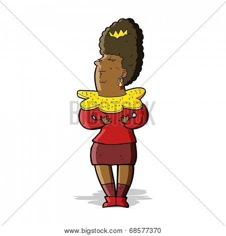 cartoon aristocratic woman