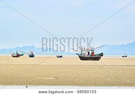 Ship Aground On The Beach