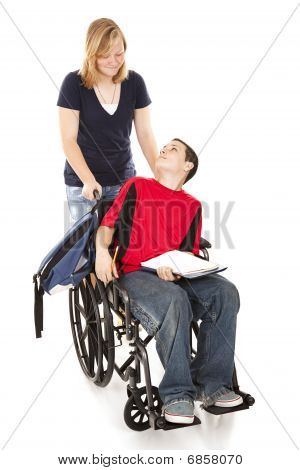 Disabled Boy And Friend