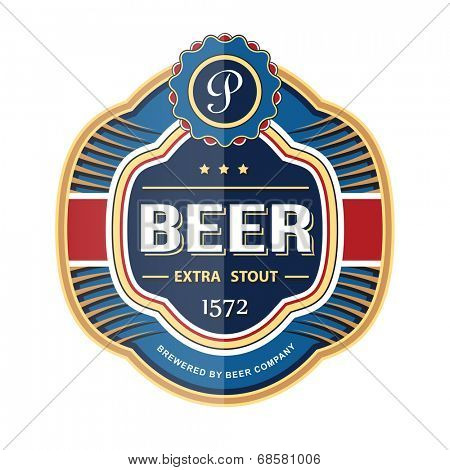 Bottle label template. Vector illustration