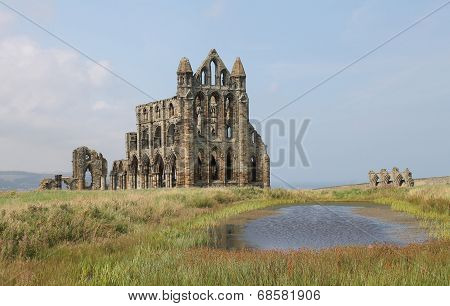 Ruined medieval Whitby Abbey