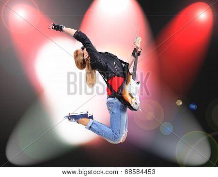 Jumping Rocker Girl
