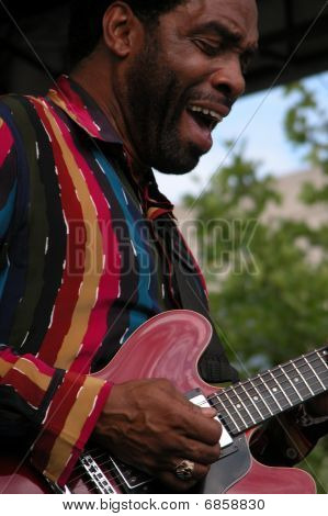 Calvin Louden Performing with KoKo Taylor at Celebrate Fairfax, Fairfax, VA. June 15,2005