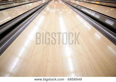 Perspectiva de piso de madera de calle de Bowling