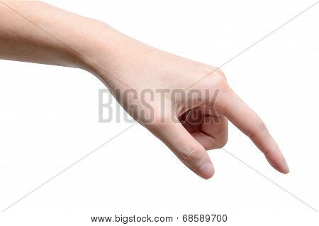 Male Hand Touching Or Pointing To Something