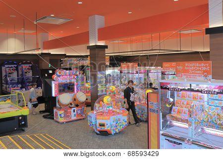 Video game centre in Mosaic Kobe Japan