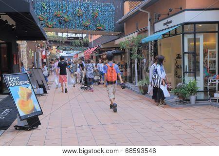 MOSAIC shopping mall in Harborland Kobe Japan