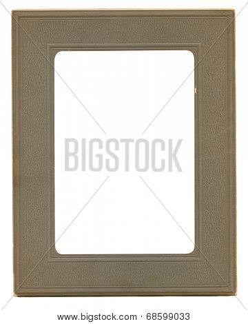 Antique paper photograph frame with interior clipping path