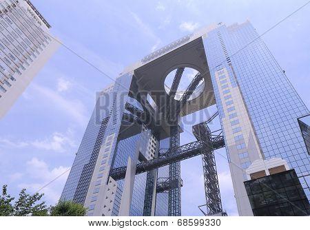 Contemporary architecture Umeda City Sky Building Osaka Japan