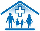 stock photo of infirmary  - blue isolated medicine icon - JPG