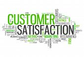 picture of text cloud  - Word Cloud with Customer Satisfaction related tags - JPG