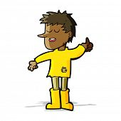 image of attitude boy  - cartoon poor boy with positive attitude - JPG