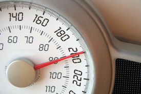 image of skinny fat  - A closeup of a weight scale - JPG