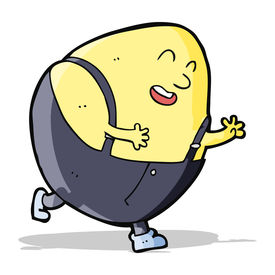 pic of nursery rhyme  - cartoon humpty dumpty egg character - JPG