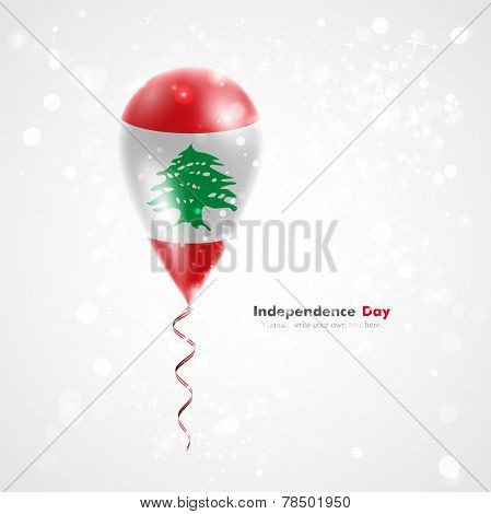 Flag of Lebanon on balloon