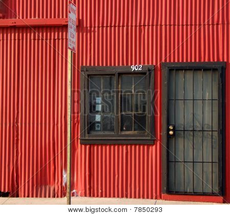 Red Industiral Wall