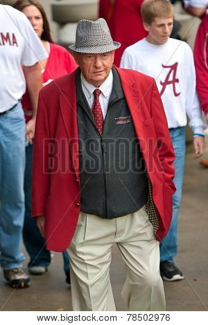 Elderly Alabama Fan Dressed Like Bear Bryant Walks To Game