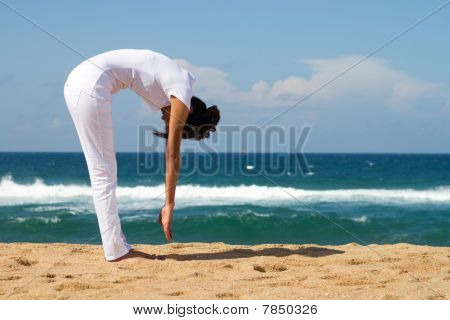 healthy yoga woman