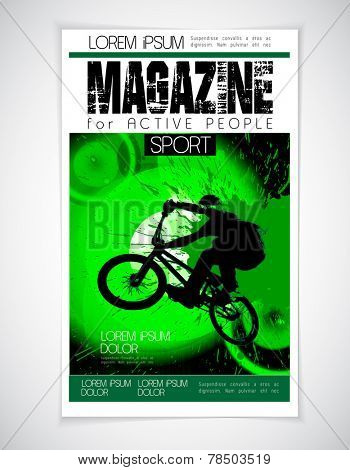 BMX sport cover, vector illustration