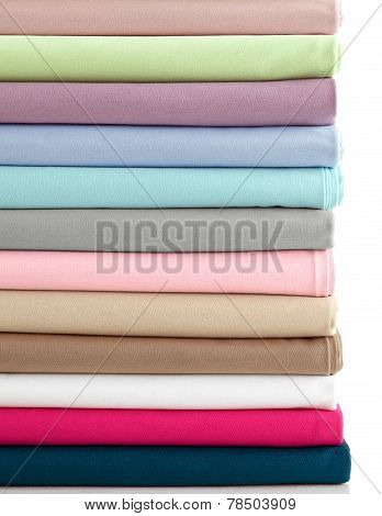 Colorful Fabric On White Background