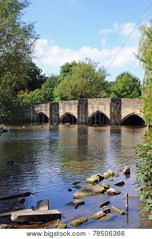 Bridge and River Wye, Bakewell.