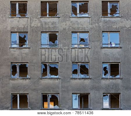 Old Abandoned Building With Broken Windows