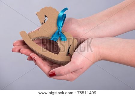 Wooden horse for Christmas