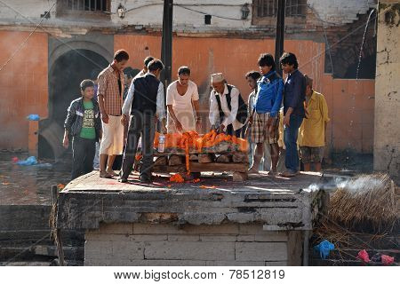 Human Cremation In Pashupatinath, Nepal