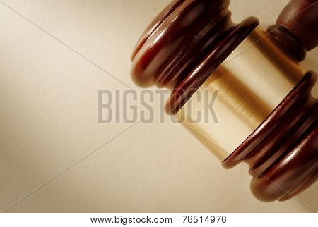 Close Up Of A Judge Or Auctioneers Gavel