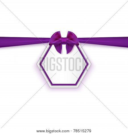 Gift Card With Red Ribbon And Satin Bow