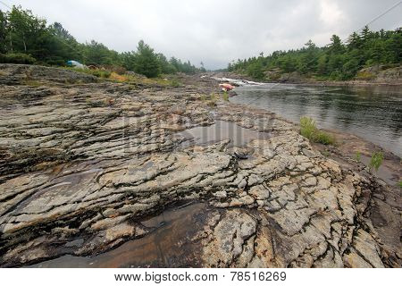 Exposed Rock River Landscape