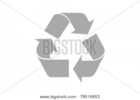 Grey Recycle Symbol. Illustration  isolated on white background, clipping path included for every part.