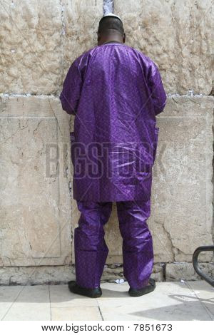 Man Praying at the Kotel - the Western Wall