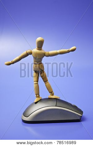 Photo of Dummy surfing on the net
