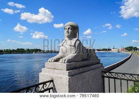 Sphinxes in St. Petersburg