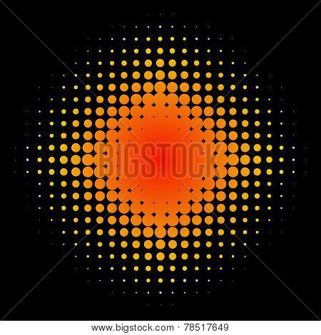 Star with dots red and yellow