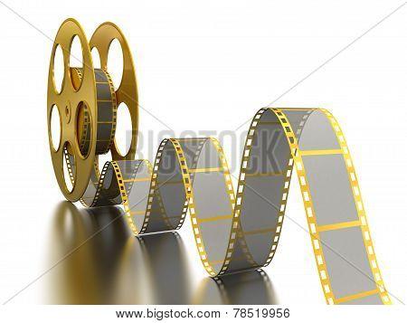 Gold Film Strip on white
