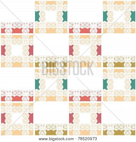Abstract Seamless White Lace Pattern Texture Background
