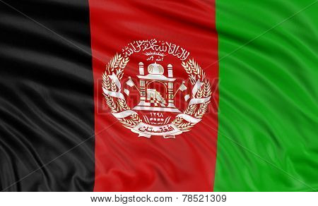 3D Afghani flag