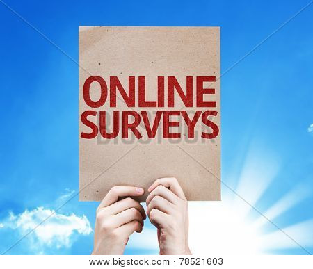 Online Surveys card with beautiful day