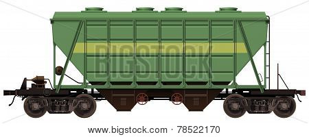 the green freight-car