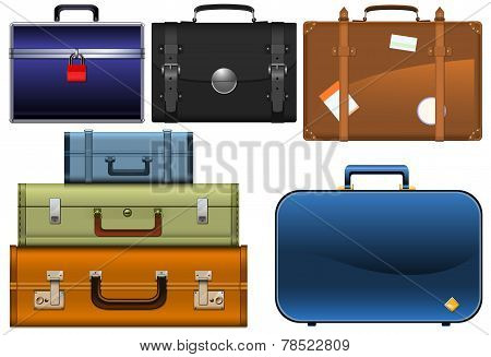 various types of suitcases