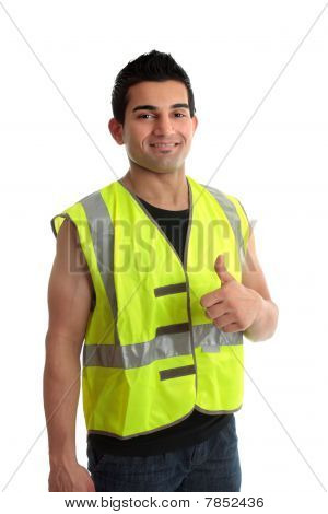Builder Construction Worker Thumbs Up