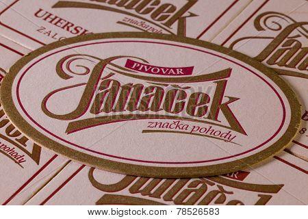 Beermats From Janacek Beer